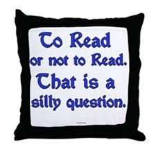 Silly Question Throw Pillow