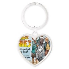 weekend at binnies Heart Keychain