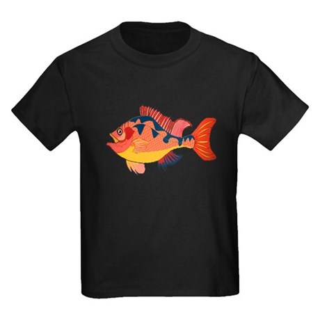 Colorful Fish Kids Dark T-Shirt