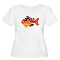 Colorful Fish Women's Plus Size Scoop Neck T-Shirt