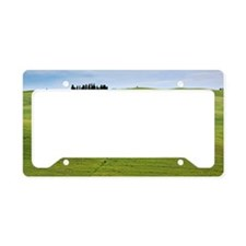 Tuscan landscape License Plate Holder