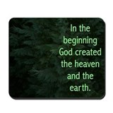 Evergreen Genesis 1:1 Mousepad