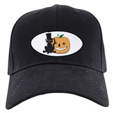 Top Hat Halloween Cat Baseball Hat