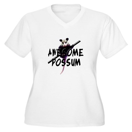 Awesome Possum Women's Plus Size V-Neck T-Shirt