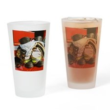 Fireman's boots and gators Drinking Glass