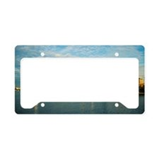 Sailboats in a river, Charles License Plate Holder