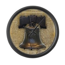Liberty Bell and the Declaration  Large Wall Clock