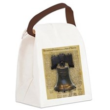 Liberty Bell and the Declaration  Canvas Lunch Bag