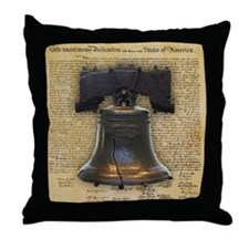 Liberty Bell and the Declaration of I Throw Pillow