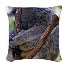 Koala Meditating. Woven Throw Pillow