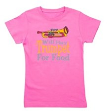 Will Play Trumpet Girl's Tee