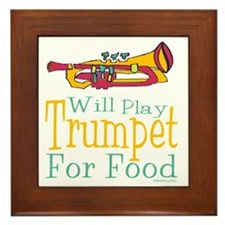 Will Play Trumpet Framed Tile
