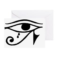 Eye of Horus with Tears Greeting Card
