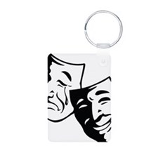 Comedy/Tragedy Masks Keychains