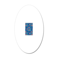 Twin Duvet Aiyana Blue 20x12 Oval Wall Decal