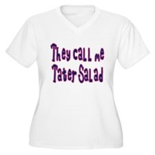 """Tater Salad"" Women's Plus Size V-Neck Tee"