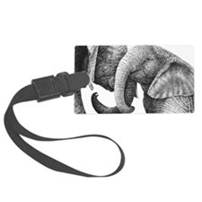 African Elephants Pillow Case Luggage Tag