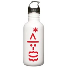 santa Emoticon Water Bottle