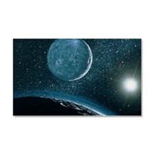 Illustration of Pluto Car Magnet 20 x 12