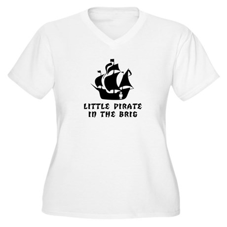 Little Pirate in the Brig Women's Plus Size V-Neck