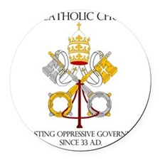 The Catholic Church Round Car Magnet