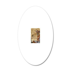 Gustav Klimt Tree Of Life 20x12 Oval Wall Decal