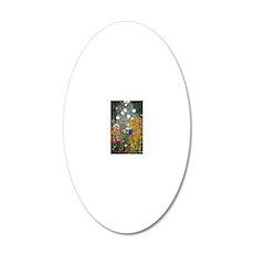 Gustav Klimt Flower Garden 20x12 Oval Wall Decal