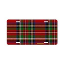 Stewart Tartan Plaid Aluminum License Plate
