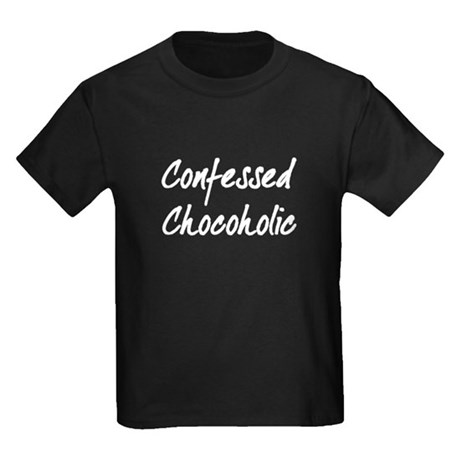 Confessed Chocoholic Kids Dark T-Shirt