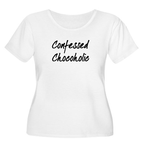 Confessed Chocoholic Women's Plus Size Scoop Neck