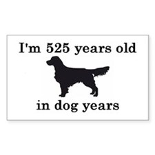 75 birthday dog years golden retriever 2 Decal