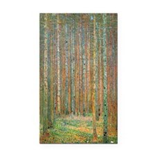 Gustav Klimt Pine Forest Rectangle Car Magnet