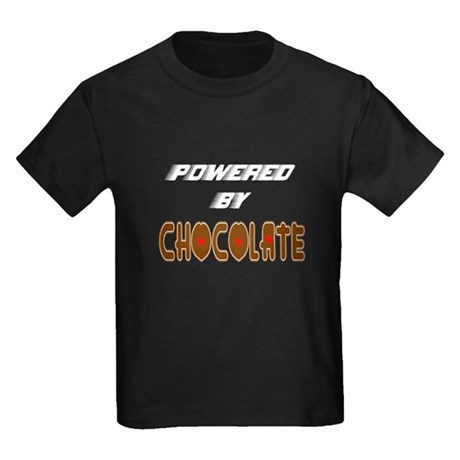 Powered by Chocolate Kids Dark T-Shirt