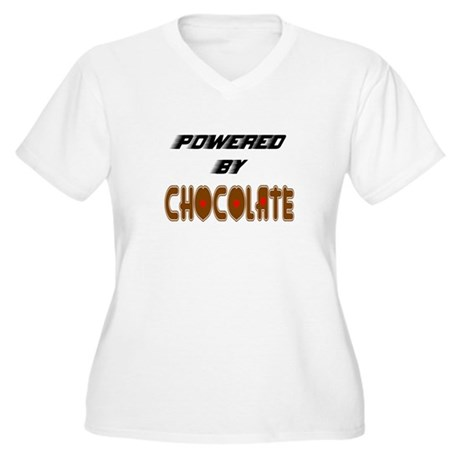 Powered by Chocolate Women's Plus Size V-Neck T-Sh