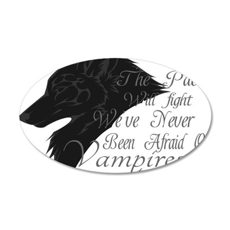 Team Jacob 35x21 Oval Wall Decal