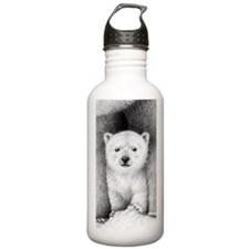 Polar Bear Cub 3x5 Rug Water Bottle