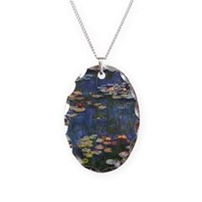 Claude Monet Water Lilies Necklace