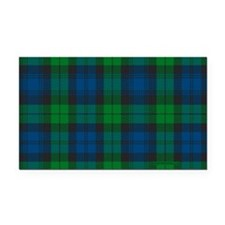 Black Watch Tartan Plaid Rectangle Car Magnet