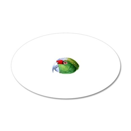 Parrot Head 20x12 Oval Wall Decal