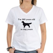 80 birthday dog years golden retriever T-Shirt