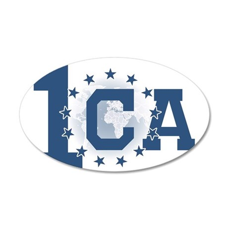 1CA logo no text 35x21 Oval Wall Decal
