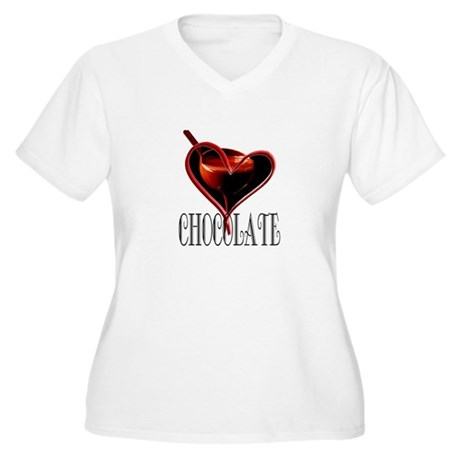CHOCOLATE Women's Plus Size V-Neck T-Shirt