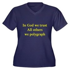In God We Trust Women's Plus Size V-Neck Dark T-S