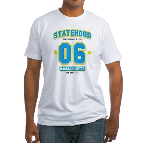 Statehood Massachusetts Fitted T-Shirt