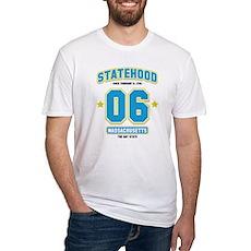Statehood Massachusetts Fitted T-Shirt