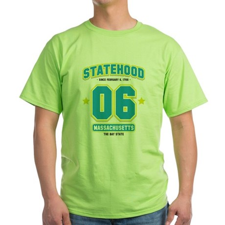 Statehood Massachusetts Green T-Shirt