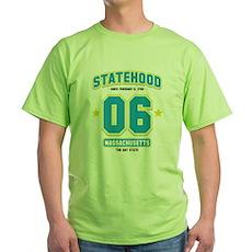 Statehood Massachusetts Green T-Shirt