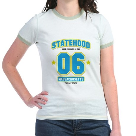 Statehood Massachusetts Jr. Ringer T-Shirt