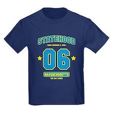 Statehood Massachusetts Kids Dark T-Shirt