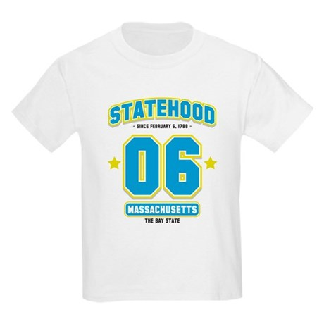 Statehood Massachusetts Kids Light T-Shirt
